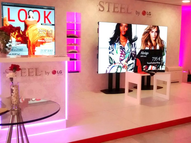 Cosmetic Exhibition Video Wall